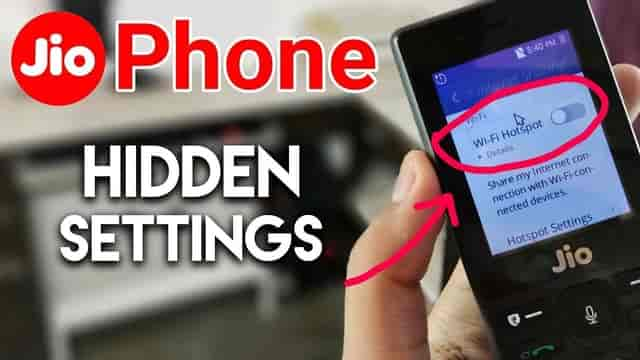 how to on hotspot in jio phone